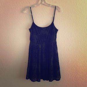 Mandala Velvet Mini Dress